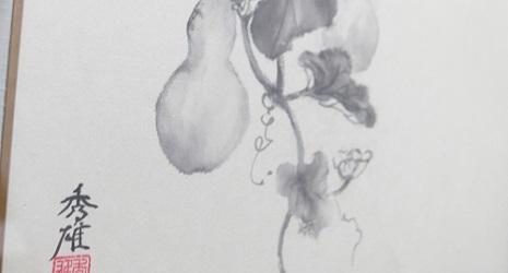 瓢箪(ヒョウタン)の絵画